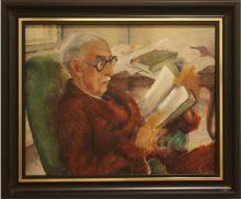 Портрет на Симеон Радев от съпругата му Бистра Винарова