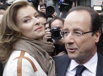Валери Трирвильор и Франсоа Оланд