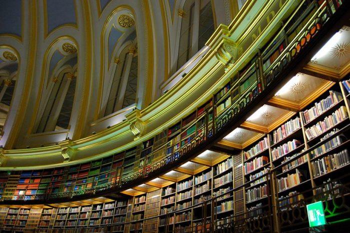 Парабола е стаята за четене в Британската библиотека.