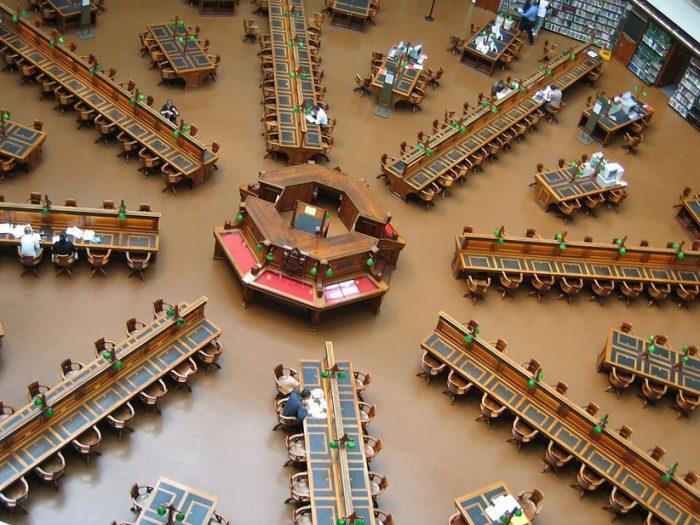 Стаята за четене в държавната библиотека на Виктория, Мелбърн, Австралия.